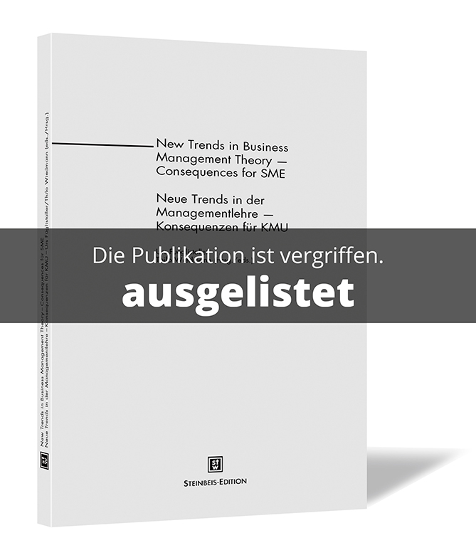 Steinbeis Edition New Trends In Business Management Theory