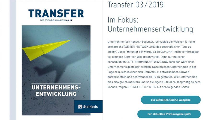 TRANSFER – Unternehmensentwicklung