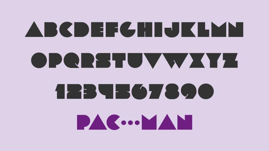 """""""Pac-Man-Schrift"""" LOT von fontfabric"""