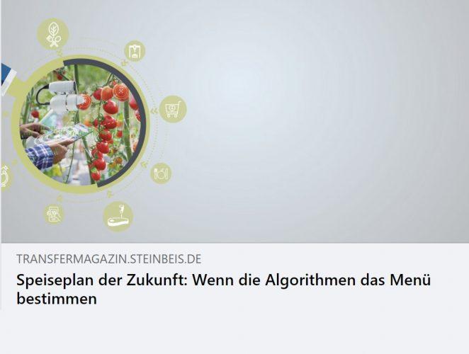 Speiseplan der Zukunft: Wenn die Algorithmen das Menü bestimmen