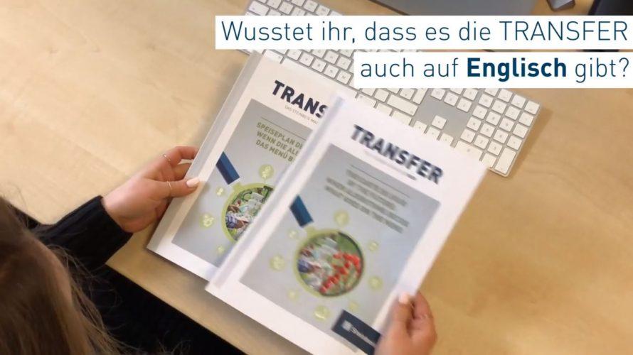 Englischsprachige Ausgabe Transfer-Magazin