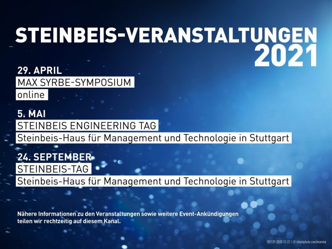 Steinbeis-Veranstaltungen 2021