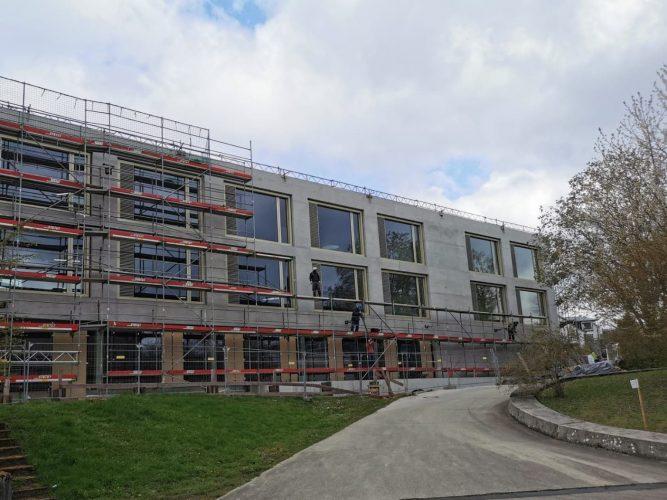 Baufortschritt Steinbeis-Haus in Stuttgart-Hohenheim