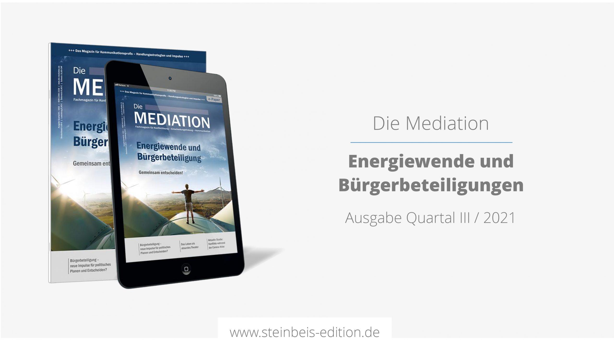 Die Mediation 3/2021 – Energiewende und Bürgerbeteiligung